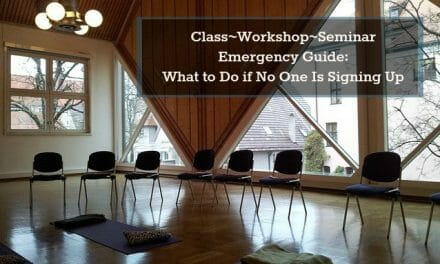 Class, Workshop & Seminar Emergency Guide: What to Do if No One Is Signing Up